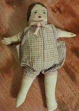 Antique Primitive Cloth Doll Original Clothes