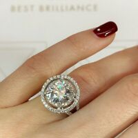Fashion 925 Silver Jewelry Women Wedding Rings White Sapphire Ring Size 6-10