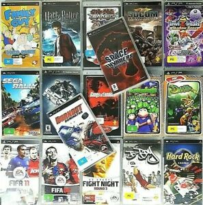 PSP Games : Select Your Titles - Sony Playstation Portable Games + UMD Video