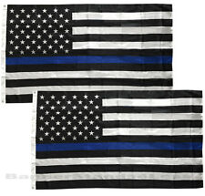 2 Pack - Blue Lives Matter Police Usa American Thin Blue Line 3x5 Flag - Usa