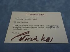 AUTHENTIC AUTOGRAPH **PATRICIA NEAL (ACTRESS)**  COA STK#A1