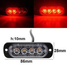 12-24V 4-LED 4W Car Truck Emergency Warning Flash Strobe Light Bar Lamp Red