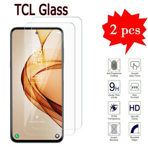 2PCS For TCL L10 10 SE 10L 10 Lite 10+ TCL A2X Tempered Glass Screen Protectors