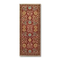 "2'6"" x 6' Runner Hand knotted Turkish Oushak Vegetable Dyed 100% wool Area rug"