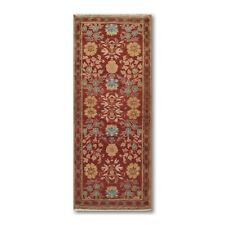 """2'6"""" x 6' Hand Knotted Turkish Oushak Vegetable Dyed wool Area rug Runner Rust"""
