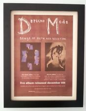 More details for depeche mode*songs faith devotion*1993*original*poster*ad*framed*fast world ship