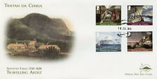 Tristan da Cunha 2014 FDC Augustus Earle Travelling Artist 4v Cover Ships Stamps