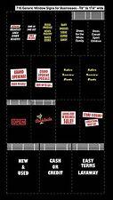 City Classics-HO Scale -- #716 Generic Window Signs