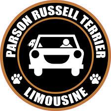 "Limousine Parson Russell Terrier 5"" Dog Sticker"