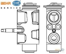 BMW E46 3 Series Air Conditioning Expansion Valve 09/98 on cars BEHR 64503452759