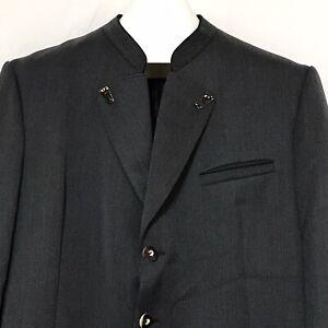 Lodenfrey German Bavarian Tracht Blazer Jacket Suit Deer Antlers Wool Mens 42 L