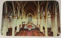 Vintage INDIANA postcard Interior of Sacred Heart Church Notre Dame IN 1960s