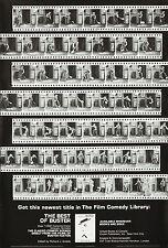 Original Vintage Poster Buster Keaton Silent Film Reel 1970s Cinema Movie B&W