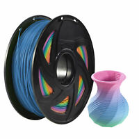 Xvico 3D Printer Filament 1KG PLA 1.75mm Rainbow Color Changing PLA Consumables