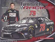 "2016 MARTIN TRUEX JR ""FURNITURE ROW TOYOTA CAMRY"" #78 NASCAR SPRINT CUP POSTCARD"