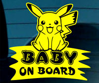 Baby On Board SELF-ADHESIVE STICKER Sign Child Kids Car Window Safety Pokemon Y+