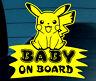 Baby On Board SELF-ADHESIVE STICKER Sign Child Kids Car Window Safety Pokemon Y+