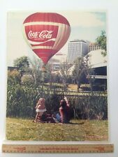 Vintage Coca Cola Laminated Photo Approx 37cmx 30cm