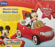 Mickey Mouse ClubHouse Mouska-Tunes Alarm Clock - New
