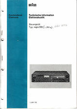 Service Manual-Anleitung für Braun Regie 550/550 digital/Regie 540 E/CEV 550