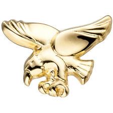 Unisex Einzelohrstecker Adler 585 Gold Gelbgold Einzelohrring Ohrstecker