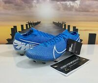 Nike Mercurial Vapor 13 Elite FG Soccer Cleats Blue AQ4176-414 Men's Size 9