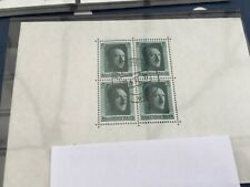 Germany Hitlers birthday  perf miniature sheet with Pforchheim cancel