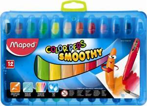 Maped Crayon Color'peps Smoothy - 12 Pack