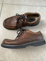 Dockers Mens Brown Leather Lace Up Shoes Loafers sz 11 M