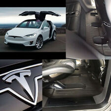 Rubber Carmats for Tesla Model X 7s 2015- All Weather 6pc Mats Fully Tailored