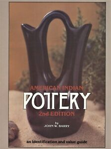 American Indian Pottery Identification - Types Makers Dates / Sftbk Book +Values