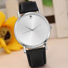 New Fashion Womens Retro Design Leather Band Analog Alloy Quartz Wrist Watch BK