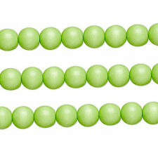 Wood Round Beads Lime Green 8mm 16 Inch Strand