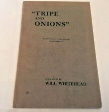 ** RARE ** Will Whitehead Tripe and Onions Racehorse Breeder 1954