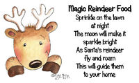 Magic Reindeer Food Stickers x 42 - #11🎅Christmas Gifts Craft & School fairs