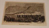 1880 magazine engraving ~ BATTLE OF ARROYE, Abyssinia
