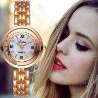 Fashion Women Lady Girl Stainless Steel Rhinestone Quartz Dress Dial Wrist Watch