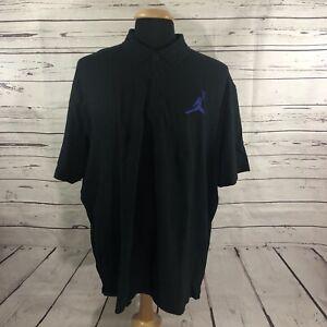 Nike Air Jordon Jumpman Men's Short Sleeve Polo Shirt Big Logo 23 Black Sz 3XL
