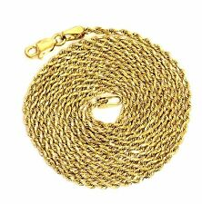 """14k yellow gold 1.75mm rope chain necklace 8.4g vintage 30"""" estate antique"""