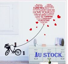 "NEW~""Heart & Cats"" Removable Family Home Decor DIY Vinyl Wall Stickers Decal Art"