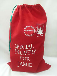 Printed Christmas sack ** Special Delivery ** Personalised ** santa sack