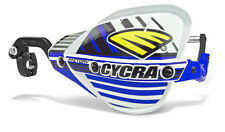 """Cycra Probend CRM Factory Handguards 1-1/8"""" Bars White / Blue Shields Pair NEW"""