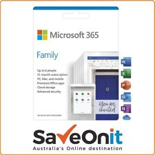 Microsoft Office 365 Family / Home 6 Users 1 year Digital license key Email