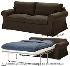 IKEA Ektorp Sofabed Cover for EKTORP Sofa-Bed SLIPCOVER Svanby Brown 801.824.40
