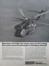 5/1976 PUB SIKORSKY CH-53E MARINES HELICOPTER HUBSCHRAUBER ORIGINAL AD