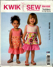 Kwik Sew Sewing Pattern K4109 4109 Toddles Dresses