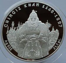 Kazakhstan Kazachstan - 100 Tenge 2008 - Chingiz Khan 1 Oz Silver Coin + COA!!!