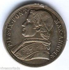 Vaticano 1854 R Pio IX 1 Escudo @ Muy Bella @