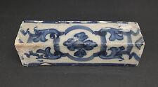 Portuguese Decorated Corner Tile Antique