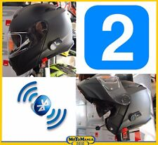 KIT DI 2 CASCHI MODULARI V271 CON INTERFONO BLUETOOTH INTEGRATO NERO OPACO